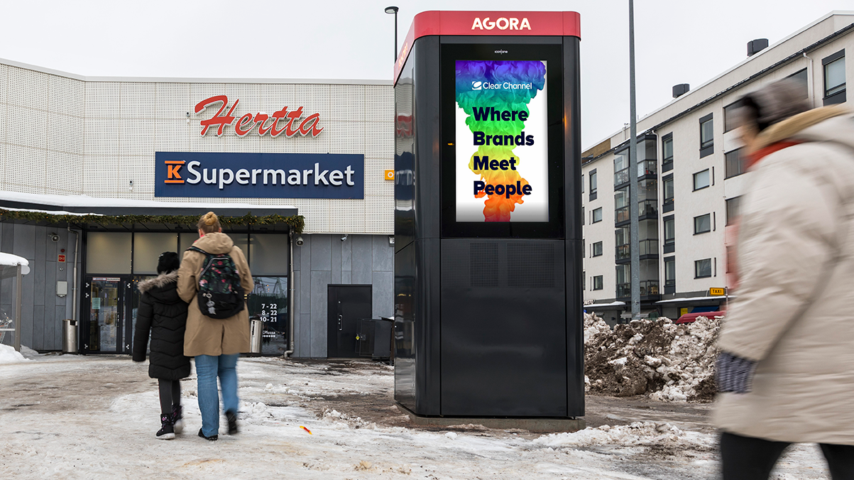 Viimeisen mailin etappina Agora-pakettiautomaatti Helsingissä K-Supermarket Hertan edessä