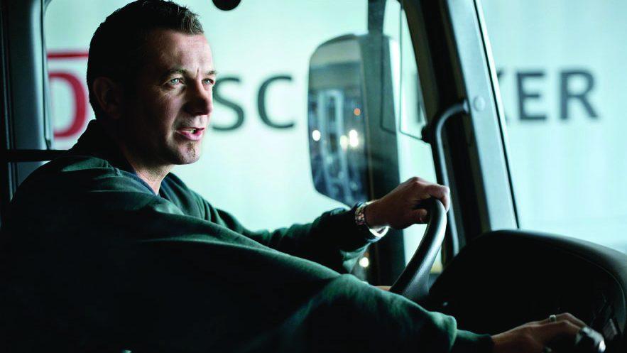 Työpaikkana ajoneuvo, DB Schenkerin kuljettaja.
